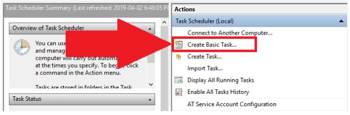 Windows actions