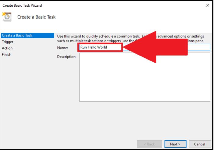 Windows task